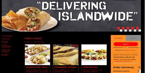 Food ordering application development