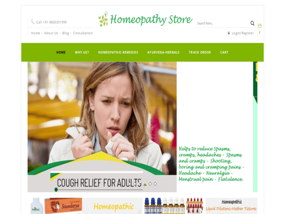 Homeopathy store